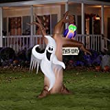 Halloween Decoration Airblown Inflatable 7' X 6.5' Ghostly Tree
