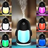 Mini Cool Mist Humidifier Portable USB Diffuser 7 Color LED Light with Timed Automatic Shut-off Mist Maker Humidificador Gift for Desk Baby Car