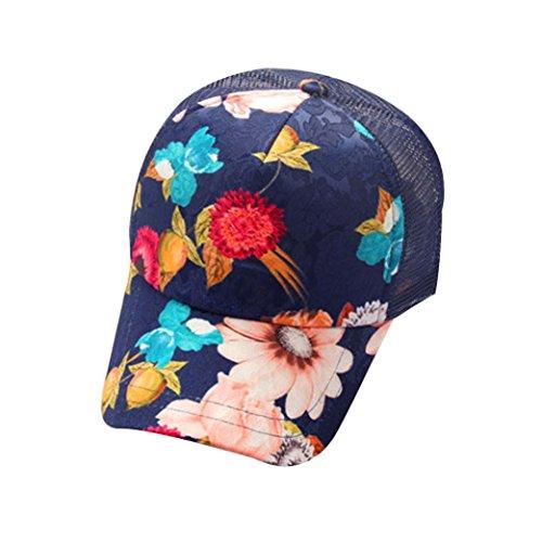 Navy Twill Club (Peaked Visor Hats, Leyorie Floral Mesh Outdoor Baseball Cap Unisex Graffiti Snapback Hip Hop Flat Hat for Travel Sport (Navy))