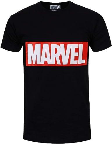 Marvel - Camiseta Logotipo de la Editorial para Chico Hombre: Amazon.es: Ropa y accesorios