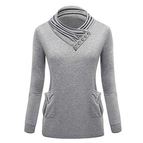 crazycatz - Camiseta de manga larga - para mujer gris