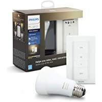 Philips HUE LED Starter Pack, 1 Lámpara Ambiance 10W A19 E26 + Dimmer