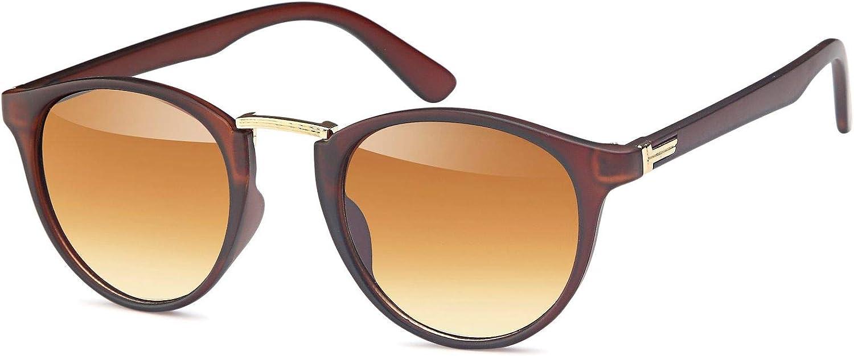 unisex 09020084 styleBREAKER gafas de sol con lentes redondas ovaladas y puente nasal de metal montura de pl/ástico-metal