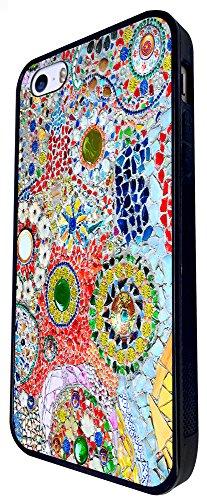 1394 - Cool Fun Trendy Cute Kawaii Space Hypnotise Kaleidoscope Colourful Peace Art Swirl (4) Design iphone SE - 2016 Coque Fashion Trend Case Coque Protection Cover plastique et métal - Noir