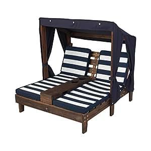 Amazon.com: KidKraft Outdoor Double Chaise Lounge ...
