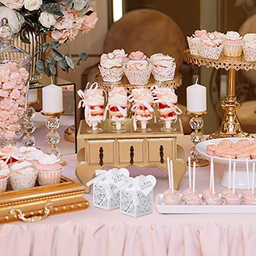 VGOODALL Hochzeit Geschenkbox, 50 Stück Süßigkeiten Kasten Taufe Gastgeschenke Schachtel für Tischdeko Hochzeit Dekoration