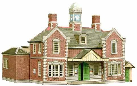 Superquick Terminus Building or Through Station 1/72 OO/HO - Card Model Kit by ()