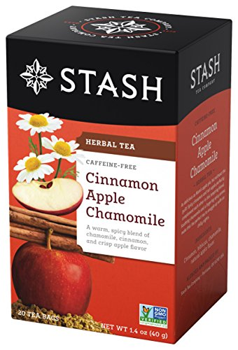 Stash Tea Cinnamon Apple Chamomile Herbal Tea 20 Count Tea Bags in Foil (Pack of 6) Individual Spiced Herbal Tea Bags for Use in Teapots Mugs or Teacups, Brew Hot ()