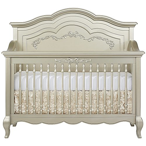 Evolur Aurora 5-in-1 Convertible Crib, Metallic Gold Dust