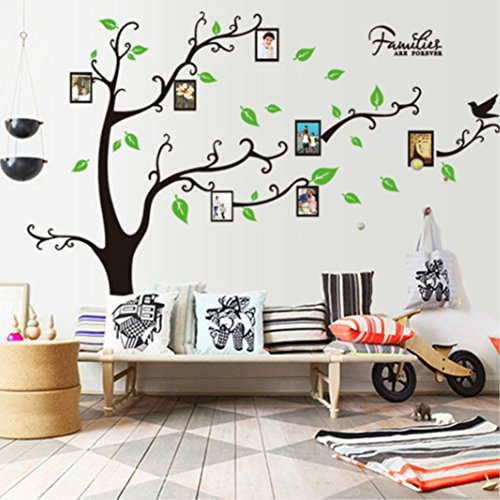 Family Tree Photo Frames Wall Decal,DIY Photo Gallery Frame Decor Sticker Living Room Home Decor Wall Sticker (Rectangular Sticker Sticker Family)