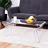 Clear Acrylic Coffee Table Tangkula Acrylic Coffee Table 38 inch Clear Modern Accent Glam with Integrated Magazine Rack End Table Tea Table