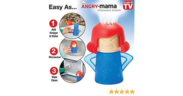 Limpiador de microondas Mama Enfadada Limpiador a Vapor: Amazon.es: Hogar