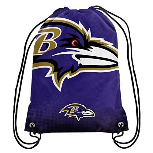 Baltimore Ravens Gift - Forever Collectibles NFL Unisex Gradient Drawstring Backpackgradient Drawstring Backpack, Baltimore Ravens, Standard