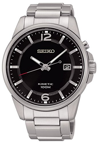 Mens Kinetic Black Dial - Seiko Kinetic Black Dial SKA665P1 Men's Classic Automatic Sports Watch