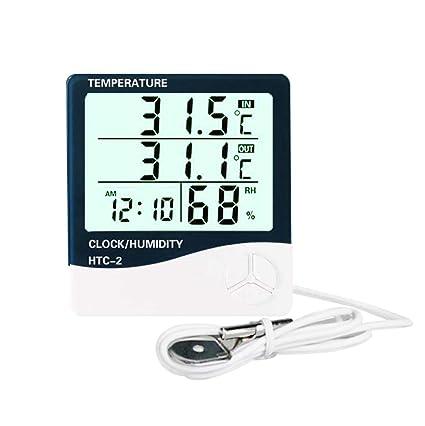 4 LCD Digital Innen Außen Temperatur Thermometer Hygrometer Uhr Luftfeuchtigkeit