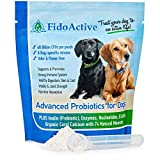 Advanced Probiotics for Dogs with 40 Billion CFUs per Pouch Includes Enzymes and Prebiotic to Fortify the Immune System and Promote Healthy Digestion Skin and Coat (6-oz Powder - scoop included)