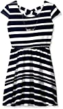 One Step Up Girls' Stripe Liverpool Skater with Criss Cross Back Dress