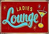 Ladies Lounge Metal Sign Tin Signs Retro Shabby Wall Plaque Metal Poster Plate 20x30cm Wall Art Coffee Shop Pub Bar Home Hotel Decor