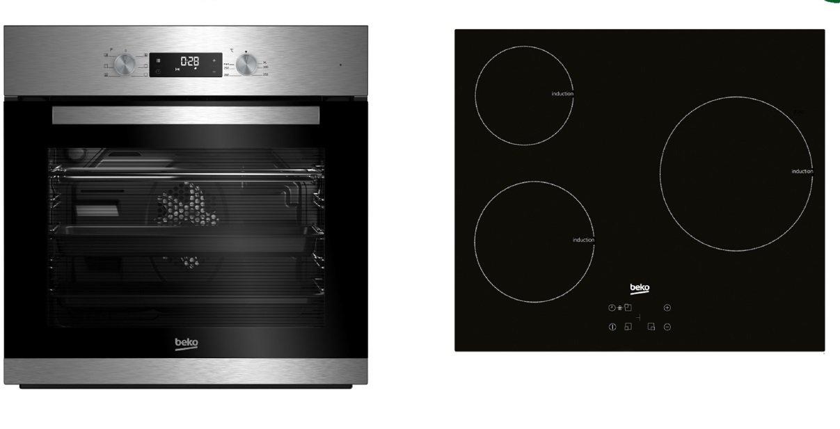 Beko - Conjunto de horno multifunción + placa de inducción bse22341x: Amazon.es: vencobaix