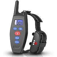 Collar Adiestramiento Perros, Collar Anti-abandono 2 en 1, Collar Impermeable y Recargable con Control Remoto 300 Metros