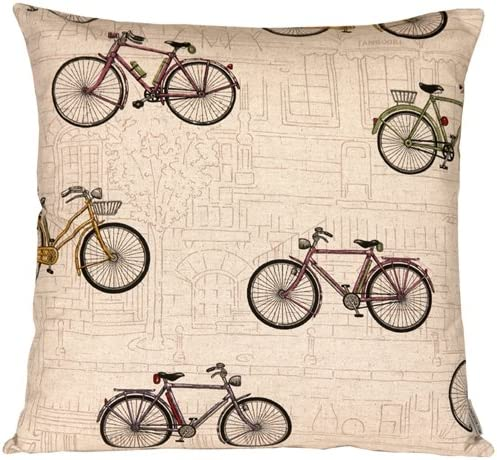 PILLOW D COR Vintage Bicycle 22×22 Throw Pillow