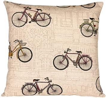 PILLOW D COR Vintage Bicycle 22×22 Throw Pillow