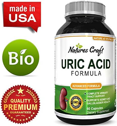 Uric Acid Support Supplement Antioxidant Detox Cleanse Blend to Metabolize Purine Levels for Healthy Kidneys & Joints Reduce Joint Pain & Soreness Naturally with Tart Cherry Milk Thistle & Turmeric