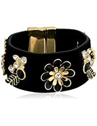 GUESS Gilded Romance Women's Magnetic Bracelet with Stones, Jet, One Size