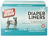 Simple Solution Diaper liners Lg 10pk (Pack of 2)