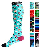 Compression Socks for Men & Women - BEST Graduated Athletic Fit for Running, Nurses, Shin Splints, Flight Travel, Maternity Pregnancy - Boost Stamina, Circulation & Recovery (Cool Balloons, S/M)