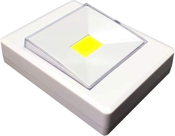 Luz Nocturna LED Luz de Noche Luz de Armario interruptor Lámpara de Cocina Lámpara Nocturna para Habitación de Bebé, Dormitorio,Escalera, Sótano, baño, Garaje, luz para mascota.: Amazon.es: Iluminación