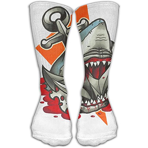 Big Dark Anchor Shark Women & Men Socks Soccer Sport Tube Stockings Length 30cm]()