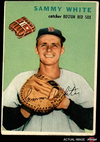 1954 Wilson Franks Sammy White Boston Red Sox (Baseball Card) Dean's Cards 2 - GOOD Red Sox Boston Red Sox Frank