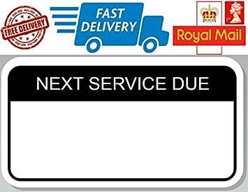 100 X Next Service Due Labels Next Service Reminder Stickers