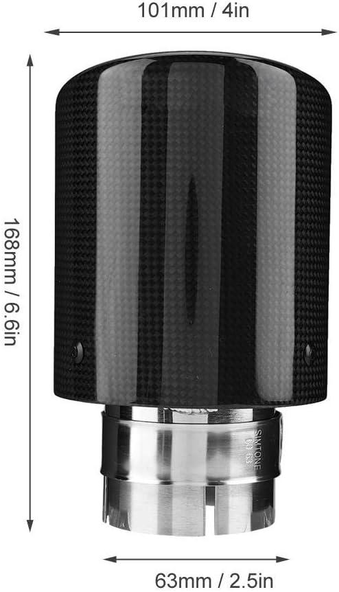 Auto Auspuffrohr Carbon Style Auto Modifiziert Single Outlet Auspuffrohr Schalld/ämpfer Tip Tail Throat 63-101mm