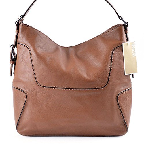 ba09b1a2fc Michael Kors Brookville Large Luggage Brown Leather Shoulder Bag  Handbags   Amazon.com