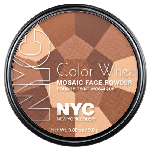 (3 Pack) NYC Color Wheel Mosaic Face Powder - All Over Bronze Glow - Face Wheel