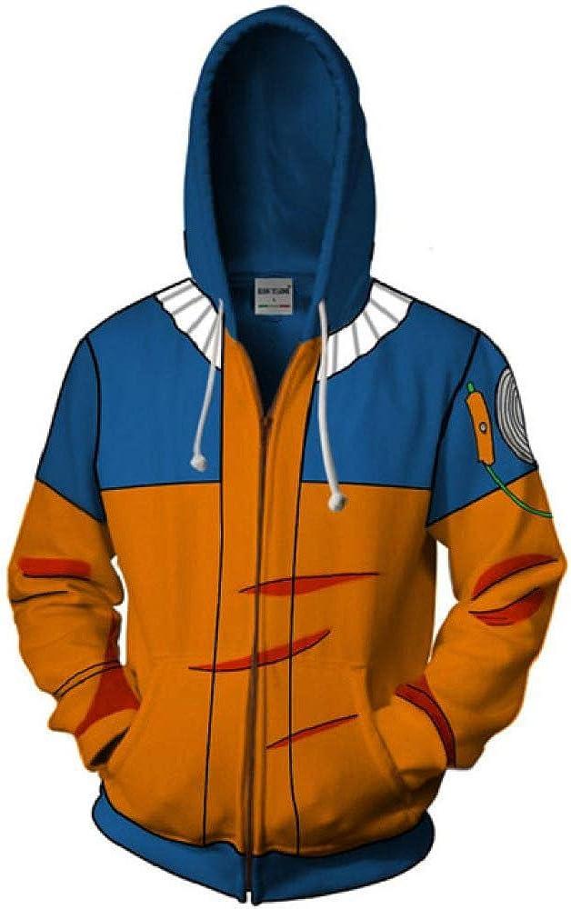 HOSD Anime Naruto Hoodie Zipper Coat Tops Thin Hoodies Sweatshirt