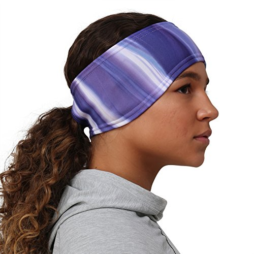 TrailHeads Women's Print Ponytail Headband – 12 prints  - Made in USA - purple waves by TrailHeads (Image #3)