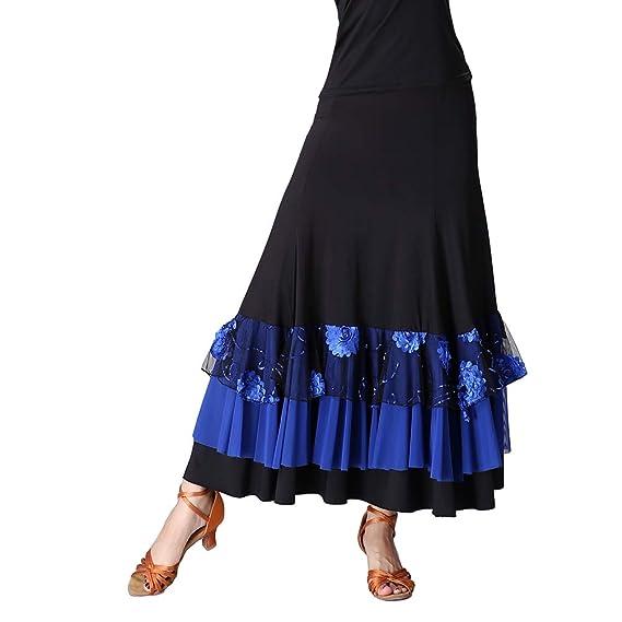 Tookang Flamenco Lentejuelas Bordadas en Busto Muestran Falda ...