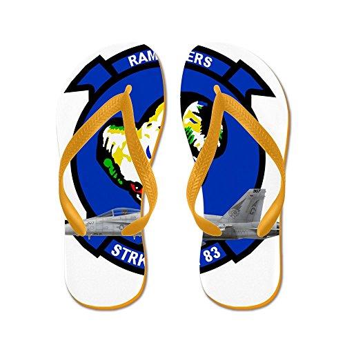 CafePress Vfa83logo copy.PNG - Flip Flops, Funny Thong Sandals, Beach Sandals Orange