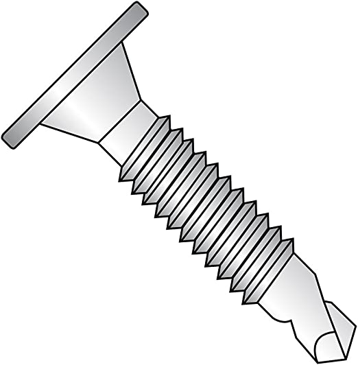 Plain Finish #10-16 Threads Pack of 100 Stainless Steel Sheet Metal Screw Self-Drilling Point Flat Head 3//4 Length Phillips Drive