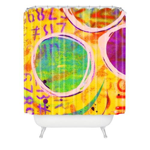 Deny Designs Sophia Buddenhagen Colored Circles Shower Curtain 69 X 72