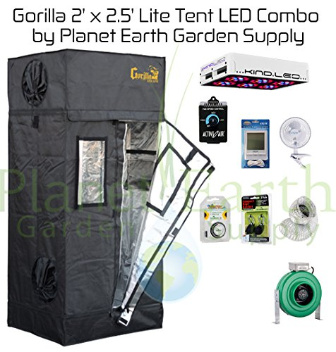 51SNhr%2BZ2IL Gorilla Grow Tent LITE (2' x 2.5') LED Combo Package #2