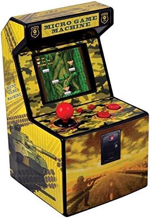 ITAL Mini Recreativa Arcade (Amarillo) / Mini Consola portátil de diseño Retro con 250 Juegos / 16 bits / Máquina Perfecta como Regalo Friki para niños y Adultos