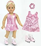 Best Doll Set With Ballerina Outfits - 18 Inch Doll Clothes Pink Ice Skating Outfit Review