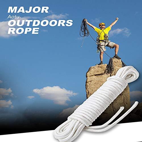 Blanco Migvela Cuerda de paraca/ídas de 7 mm Cuerda de Escalada Multifuncional Cuerda de sombrilla para Excursionismo Equipo de Supervivencia de Emergencia para Camping