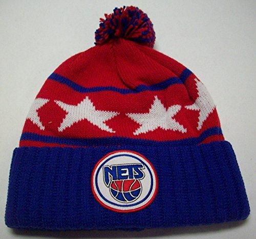 Nets New Acrylic Jersey (Mitchell & Ness NBA Star Crown High Five All Star Knit Hat (New Jersey Nets))