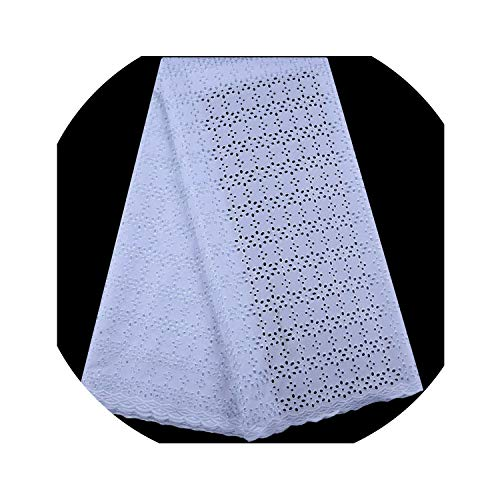 Agust D Nigeria Lace Fabric African Dry Cotton Lace Fabric 2019 Swiss Voile Lace in Switzerland with Stones for Nigerian Men Party,White