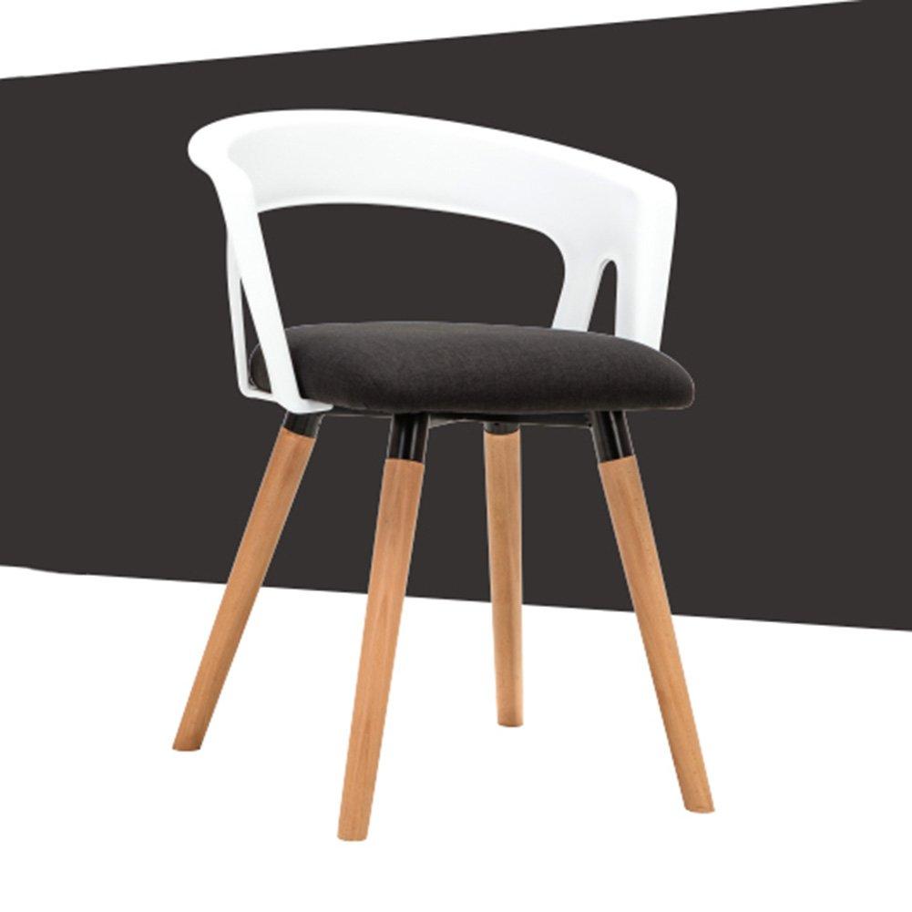 ZEMIN ダイニングチェア椅子の木の木製折り畳み 椅子ソファシートスツールテーブル背もたれアームレストクリエイティブソリッドウッド脚コンピュータカラフル、6色使用可能、56x42x72CM ( 色 : D ) B0797HLK83D